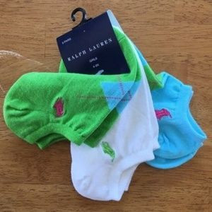 NWT Ralph Lauren Girl's Multi Color Socks S: 4-6X
